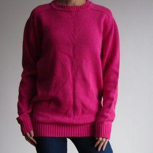 *Vintage* Eaton - Hot Pink Crew Neck Sweater